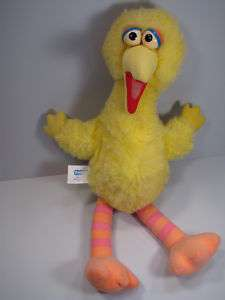 USED AS IS Vintage HUGE Sesame Street Big Bird Stuffed Plush Doll 21