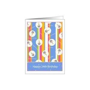 Cupcake Theme 24 Years Old Happy Birthday Card Card Toys