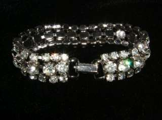 Set Clear Rhinestone Bracelet ~ Excellent Designer Quality ~ 7