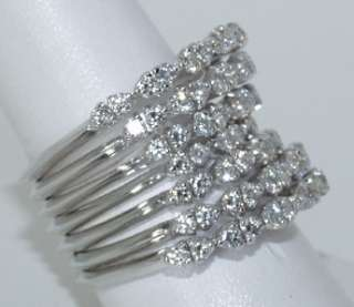 CRIVELLI 18 KT. WHITE GOLD AND DIAMOND RING WOW