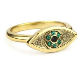 House of Harlow 1960 Yellow Gold Plated Evil Eye Ring