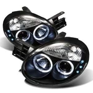 03 05 DODGE NEON HALO PROJECTOR HEADLIGHTS   BLACK Automotive
