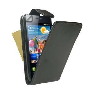Leather Flip Case Cover With Magnetic Close For The Samsung Galaxy