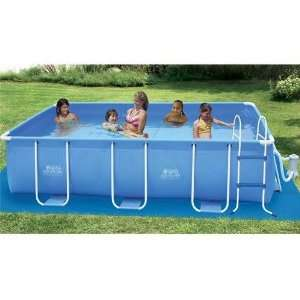 Rectangular Frame 8 Ft x 14 Ft x 36 Summer Escapes Pool