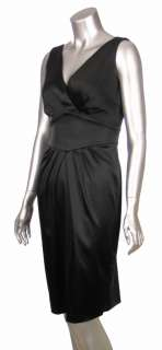 Calvin Klein Short Black Satin Stretch Siren Cocktail Dress   Assorted