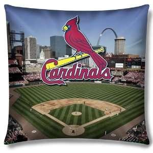 Saint Louis Cardinals MLB Photo Real Toss Pillow (18x18