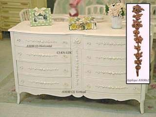 Shabby Cottage Chic 2 Rose Furniture Appliques French