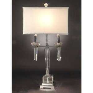 Dale Tiffany Lowell Crystal Table Lamp: Home Improvement
