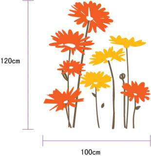 Large Vinyl Wall Art Decal Sticker natural style garden 8 dahlia