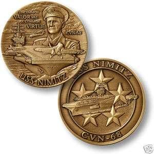 NAVY USS NIMITZ CVN 68 CREW BRONZE CHALLENGE COIN