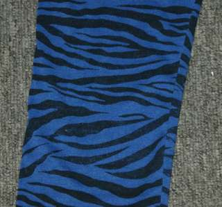 Blue zebra print leggings tight pants rock punk S pt237
