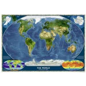 National Geographic RE00622004 Satellite World Map Toys & Games