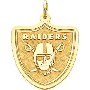 14K Gold NFL Oakland Raiders Logo Charm:  Sports & Outdoors