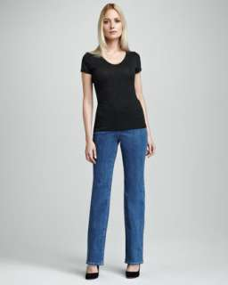 Straight Cotton Spandex Jeans  Neiman Marcus