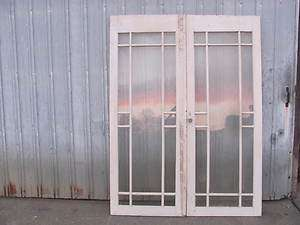 ANTIQUE SOLID WOOD FRENCH DOORS