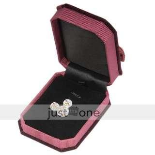 Top Luxury Velvet Jewellery Pendant Gift Package Storage Box Hard Case