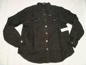 NWT Mens Avirex Button Down Shirt Denim Sz XXL 2XL H166