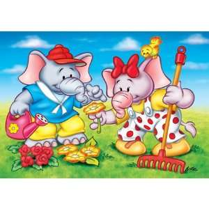 Jumbo the Elephant Gardening Jigsaw Puzzle 20pc Toys