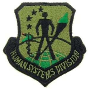 U.S. Air Force Human Systems Division Patch Green Patio
