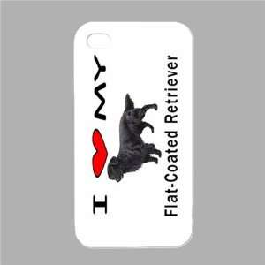 I Love My Flat Coated Retriever White Iphone 4 and Iphone