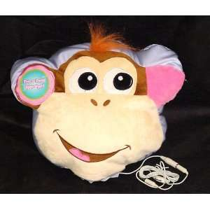 Music Monkey Face Speaker Pillow