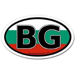 Bulgaria BG Flag Car Bumper Sticker Decal Oval Automotive