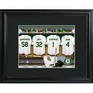 MLB Oakland Athletics Clubhouse Print in Wood Frame