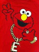 Licensed Sesame Street Elmo Gangsta Big Face Youth Boys Long Sleeve