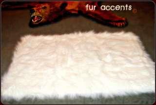 X48 WHITE BEAR SKIN ACCENT RUG FAKE SHEEPSKIN FAUX FUR AREA RUGS NEW