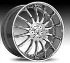 Lexani Firestar Chrome Wheels 20x8.5 Set of Four 4009205120TC20