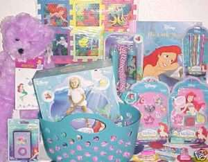 NEW LITTLE MERMAID TOY easter BASKET OUTDOOR TOYS ariel BIRTHDAY