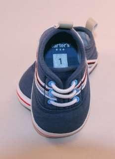 EUC Carters Baby Boy crib shoes Size 1 ADORABLE
