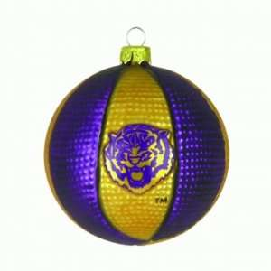 NCAA LSU Louisiana State Tigers Glass Basketball 3 1/2