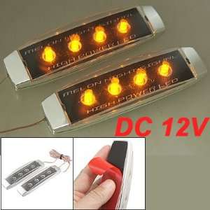 Car Auto DC 12V 2 Pcs Yellow LED Side Turn Signal Light