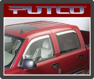 480011 Putco Chrome Window Vent Visors Chevy / GMC 010536480115