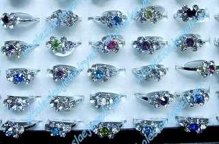 wholesale 100PCS Fashion #5 8 rhinestone&18KGP RinG