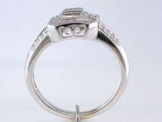 Diamond .50ct 14K White Gold Engagement Wedding Cocktail Ring Jewelry