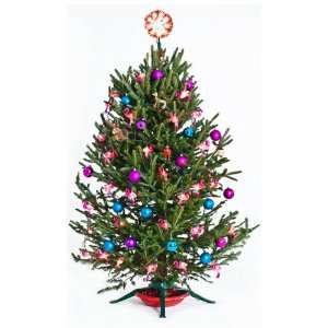 Vinyl Wall Graphics Christmas Tree Cling with Pink Flamingos Full Size
