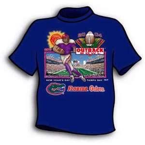 Florida Gators Royal Blue 2004 Outback Bowl T shirt