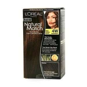 Match No Ammonia Color Calibrated Hair Color, Dark Golden Brown, 4W