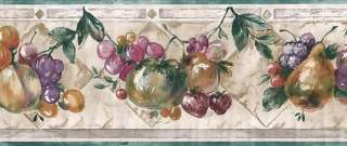 KITCHEN FRUIT WALLPAPER BORDER