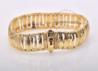 Roberto Coin Yellow Gold Diamond Elephantino Bracelet