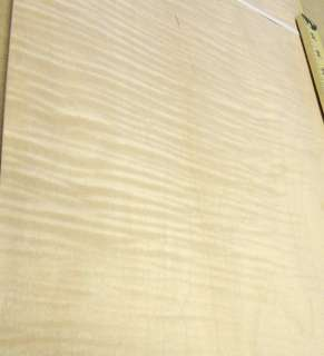 Curly Maple wood veneer 11 x 46 with no backing (raw veneer)