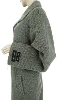JONES New York Wool ALPACA Blend Grey Womens Long Maxi Coat US 24W