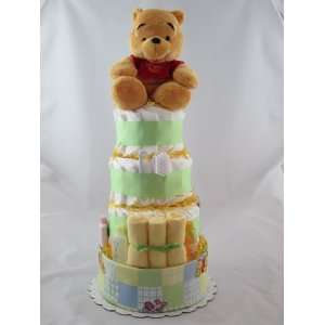 Pooh And Friends Diaper Cake Baby