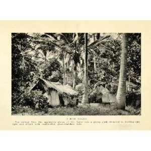 1925 Print Bush Village Hut Trees Forest Africa Landscape Scenery Art