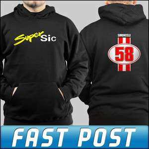 Adults and Kids Marco Simoncelli Simonchelli Super Sic Design Hoddie