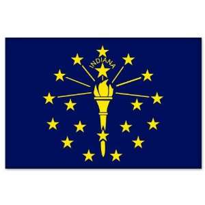 Indiana State Flag car bumper sticker 5 x 4 Automotive