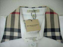 Women Burberry London Polo Shirt, WHITE, Size S, sweater polo puffer