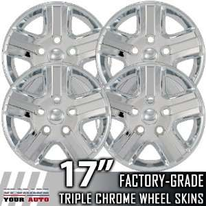 06 08 DODGE RAM 17 Chrome Wheel Skin Covers Automotive